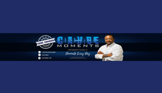 Youtube Coachable Moment Banner blue & Black-2